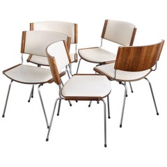 Set of Five Midcentury Danish Rosewood Dining Chairs by Nanna Ditzel, 1958