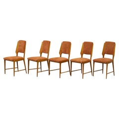 Set of Five Midcentury Italian Chairs