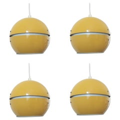 Set of Five Midcentury Pendants, Eyeball, Denmark, 1960s