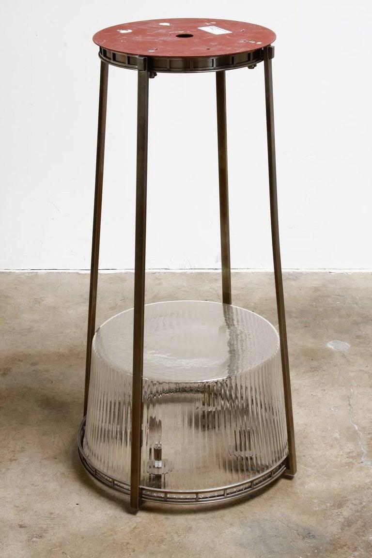 Set of Five Modernist Art Deco Nickel Chandeliers For Sale 6