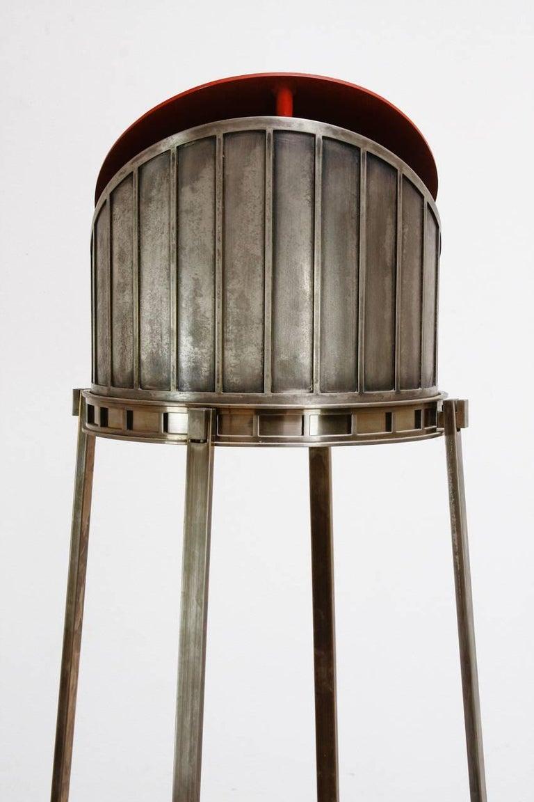 Set of Five Modernist Art Deco Nickel Chandeliers In Good Condition For Sale In Rio Vista, CA