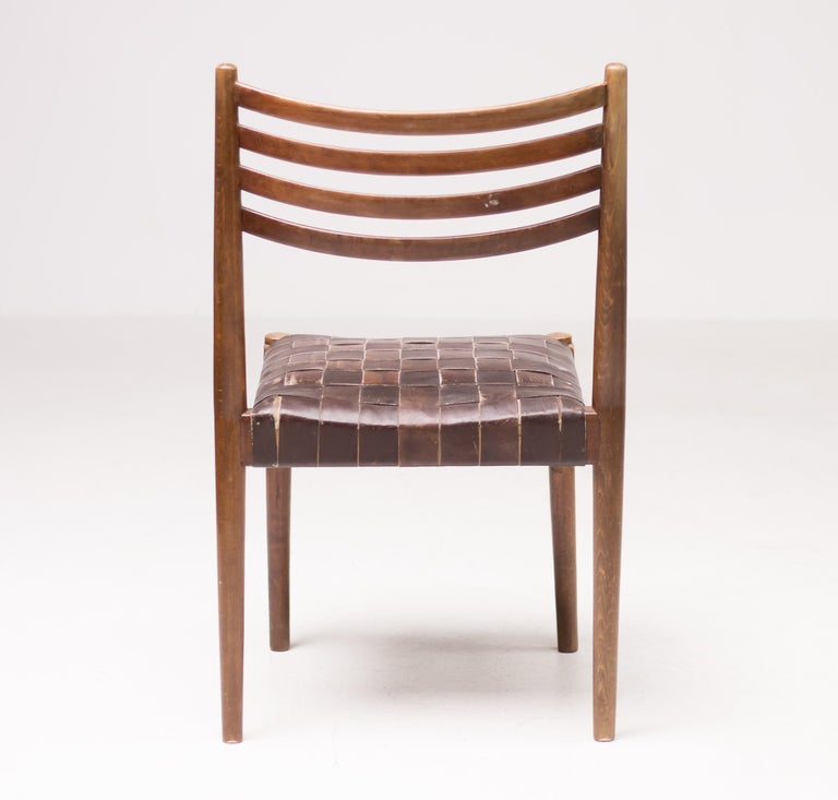 Stained Set of Five Palle Suenson Dining Chairs For Sale