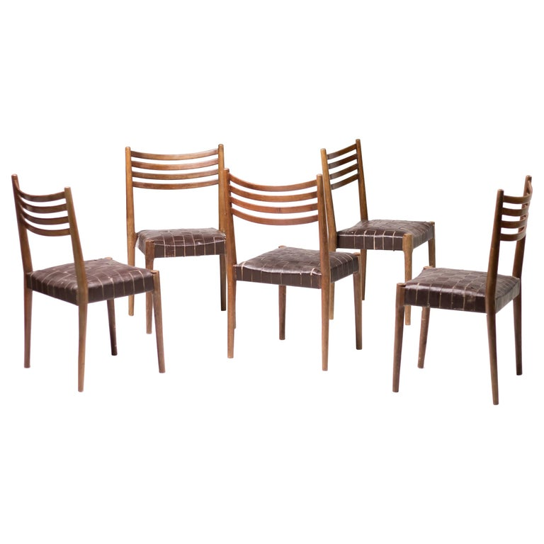 Set of Five Palle Suenson Dining Chairs For Sale