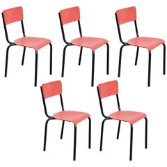 Set of Five Pierre Guariche Chairs for Meurop, circa 1950