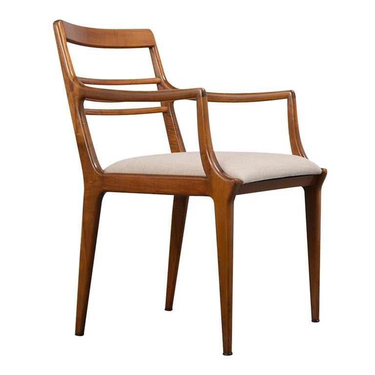 American Set of Five Renzo Rutili Dining Chairs For Sale