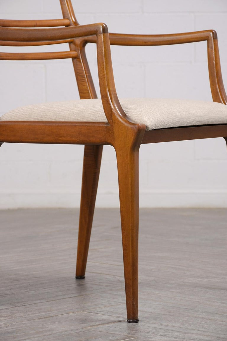 Set of Five Renzo Rutili Dining Chairs In Good Condition For Sale In Los Angeles, CA