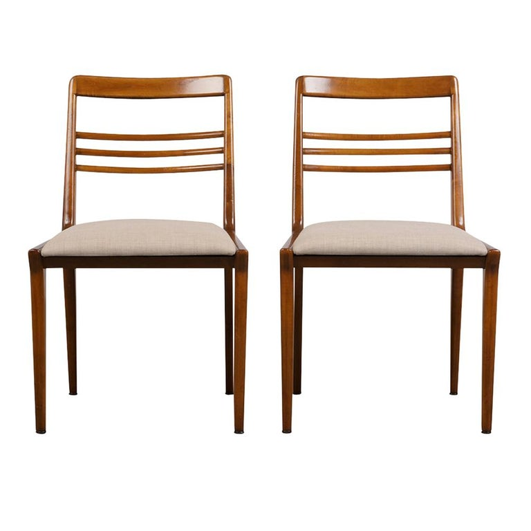 Mid-20th Century Set of Five Renzo Rutili Dining Chairs For Sale