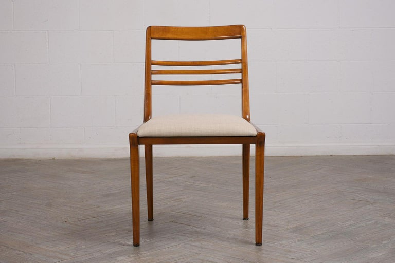 Set of Five Renzo Rutili Dining Chairs For Sale 1