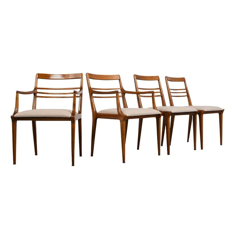 Set of Five Renzo Rutili Dining Chairs For Sale