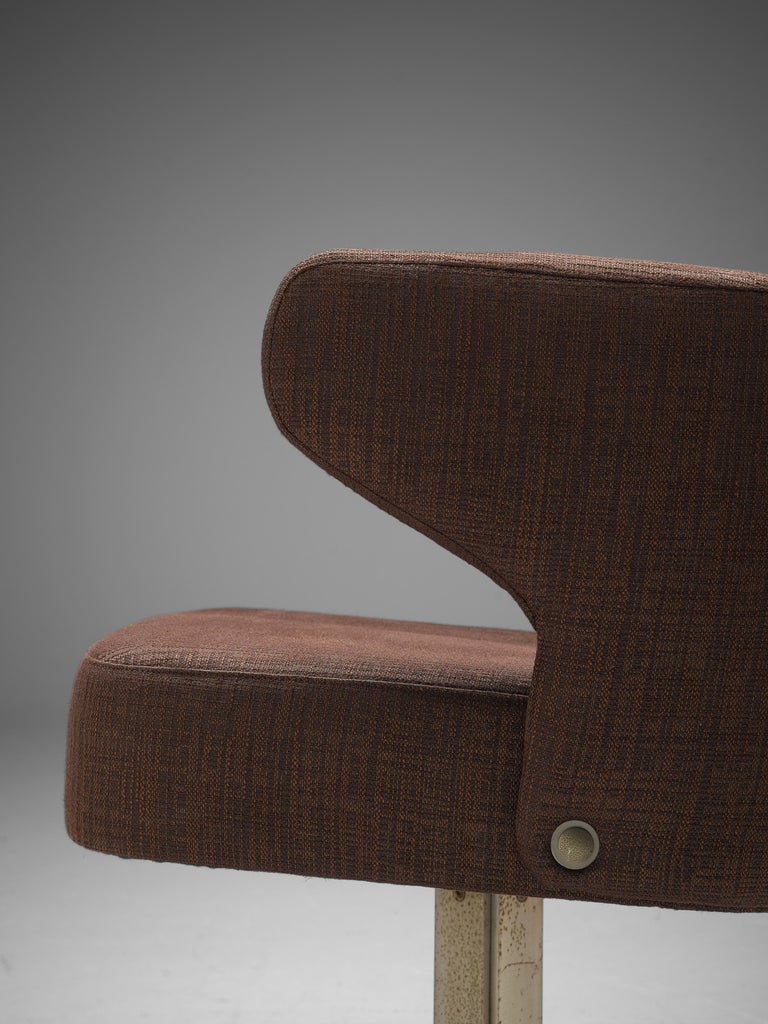 Set of Five Swivel 'Poney' Armchairs by Giulio Moscatelli For Sale 2