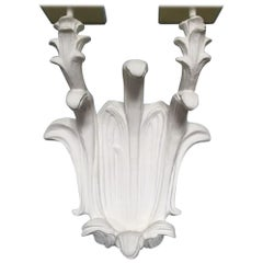 Set of Five Wall Sconces, Hollywood Regency Style, 1940s