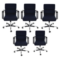 Set of Five Yrjo Kukkapuro for Avarte Office Chairs