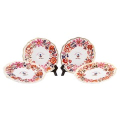 Set of Flight Barr Barr Worcester Porcelain Armorial Dessert Dishes