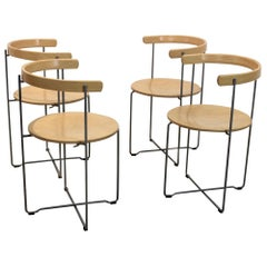 Set of Foldable Sóley Chairs by Valdimar Harðarson for Kusch+Co.
