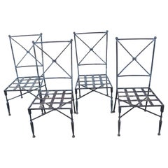 Set of Forged Iron Neoclassical Chairs