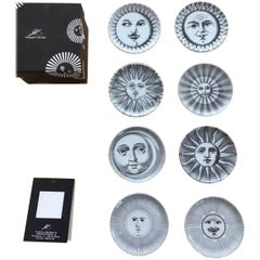 Set of Fornasetti Atalier Soli E Lune, Sun & Moon Boxed Coaster Set