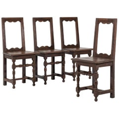Set of Four 18th Century French Oak 'Nun's' Chairs