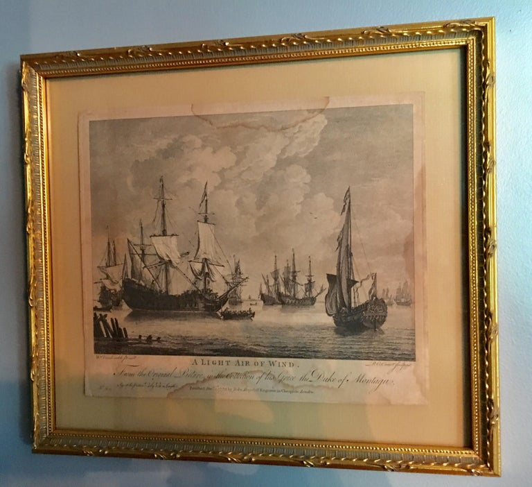 Set of Four 18th Century Marine Engravings by P.C. Canot In Good Condition For Sale In Cold Spring, NY