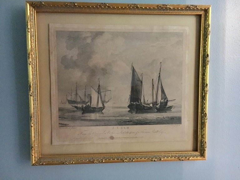 Paper Set of Four 18th Century Marine Engravings by P.C. Canot For Sale