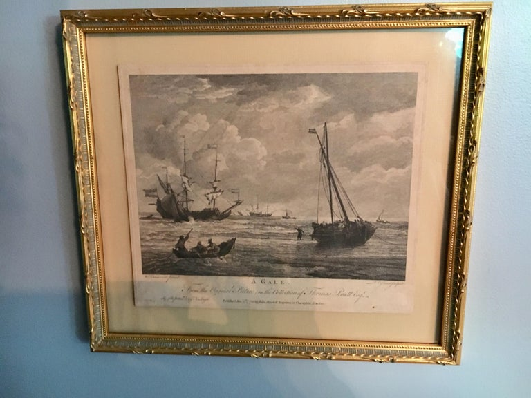 Set of Four 18th Century Marine Engravings by P.C. Canot For Sale 1