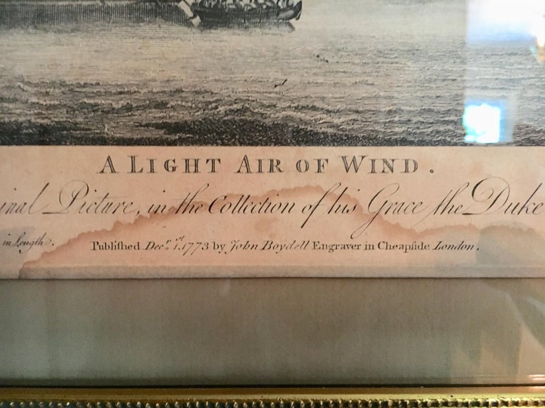 Set of Four 18th Century Marine Engravings by P.C. Canot For Sale 2