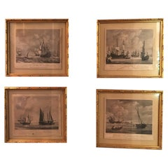Set of Four 18th Century Marine Engravings by P.C. Canot