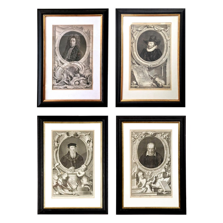 Set of Four 18th Century Prints In Excellent Condition For Sale In New York, NY