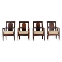 Set of Four 1940s Chinese Rosewood Chairs