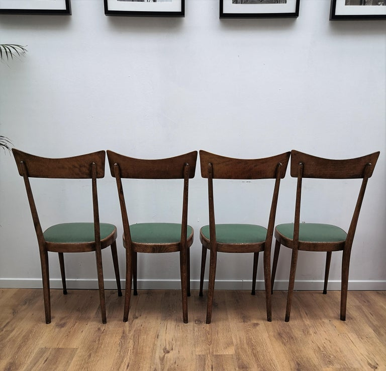 Set Of Four 1950s Italian Mid Century Modern Dining Room Chairs For Sale At 1stdibs