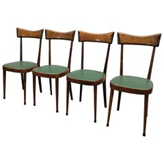 Set of Four 1950s Italian Mid-Century Modern Dining Room Chairs
