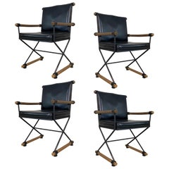 Set of Four 1960s Directors Chairs in the Style of Cleo Baldon
