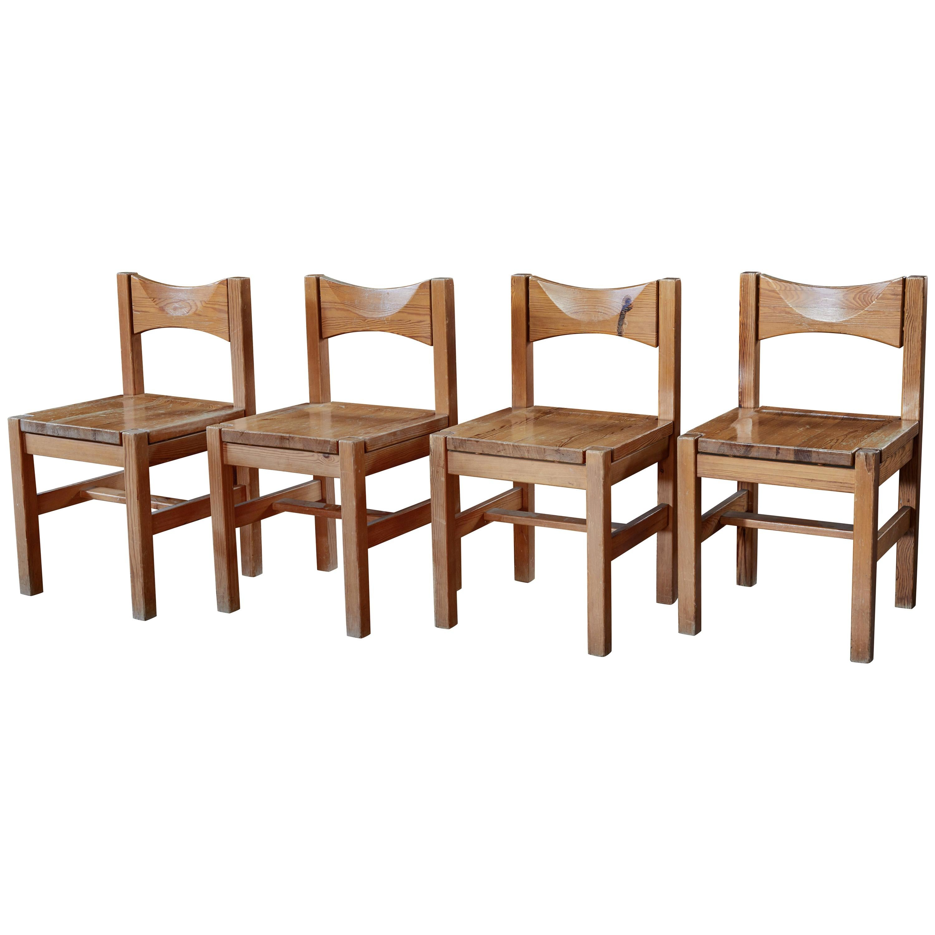 Set of Four 1960s Ilmari Tapiovaara Dining Chairs for Laukaan Puu Oy, Finland