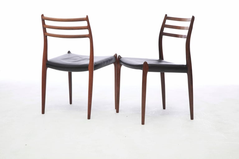 Set of Four 1960s Model 78 Rosewood Chairs by Niels O. Møller In Good Condition In London, GB