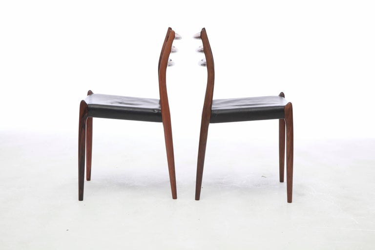 Set of Four 1960s Model 78 Rosewood Chairs by Niels O. Møller 1