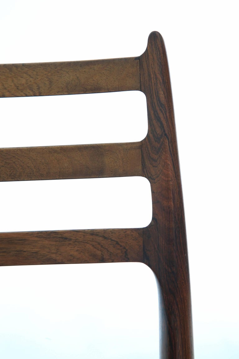 Set of Four 1960s Model 78 Rosewood Chairs by Niels O. Møller 2
