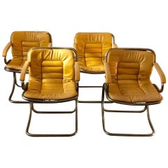 Set of Four 1970s Gastone Rinaldi Cantilever Chairs