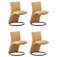 Set of Four 1970s Pompeo Fumagalli 'Calla' Chairs
