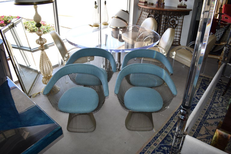 Mid-Century Modern Set of Four 1970s Warren Platner Easy Armchairs for Knoll For Sale