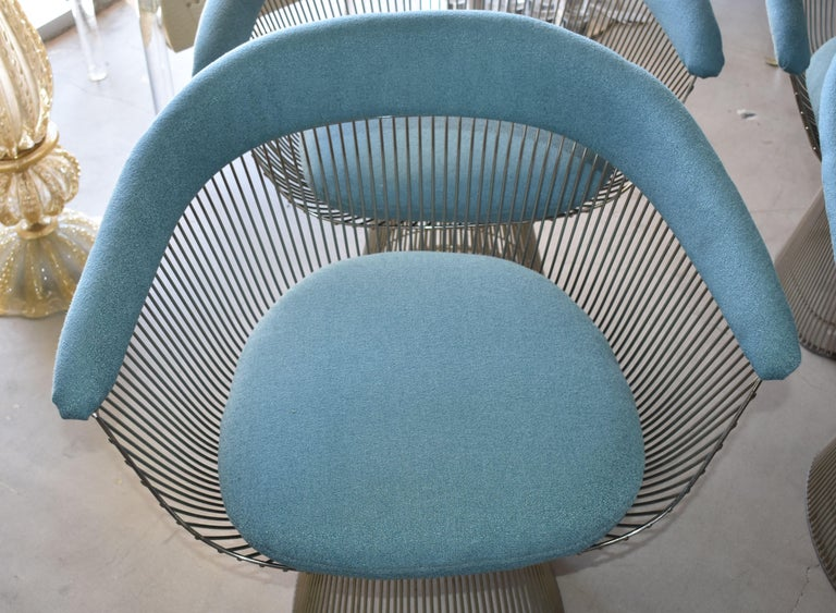 American Set of Four 1970s Warren Platner Easy Armchairs for Knoll For Sale