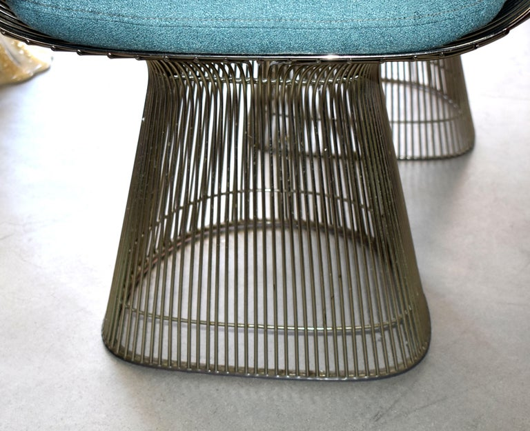 Set of Four 1970s Warren Platner Easy Armchairs for Knoll In Good Condition For Sale In Cathedral City, CA