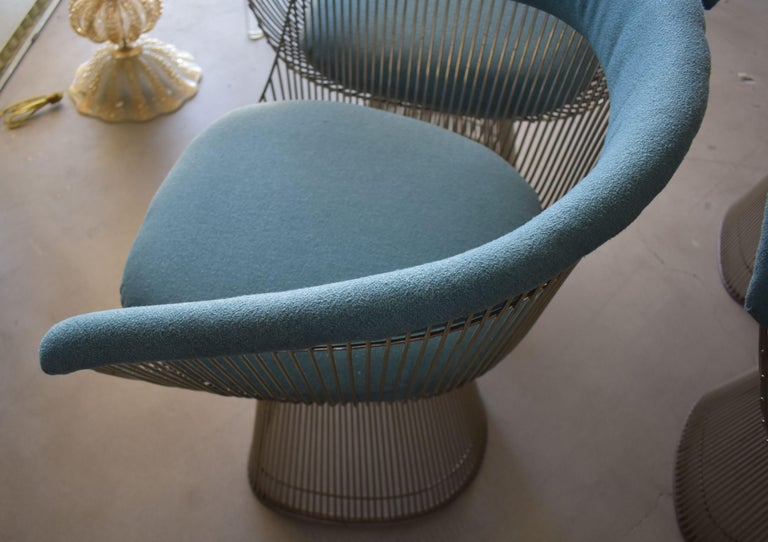 Set of Four 1970s Warren Platner Easy Armchairs for Knoll For Sale 1