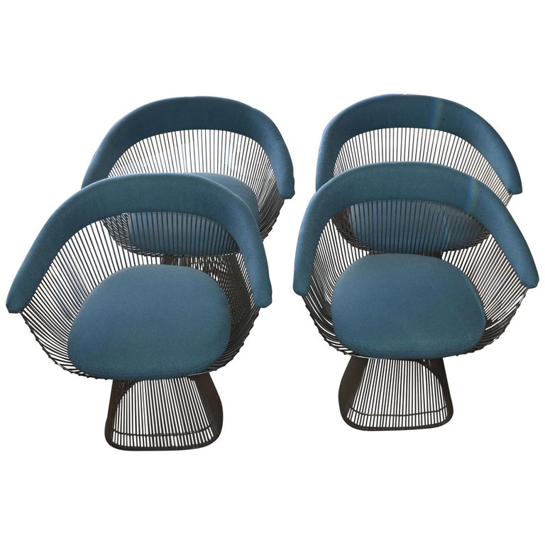 Set of Four 1970s Warren Platner Easy Armchairs for Knoll For Sale