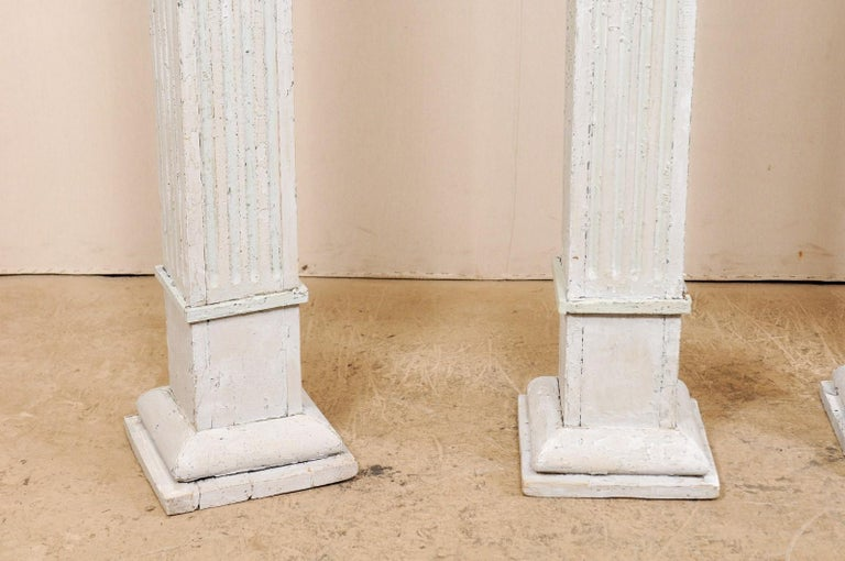 Set of Four 19th Century American Painted Columns For Sale 5