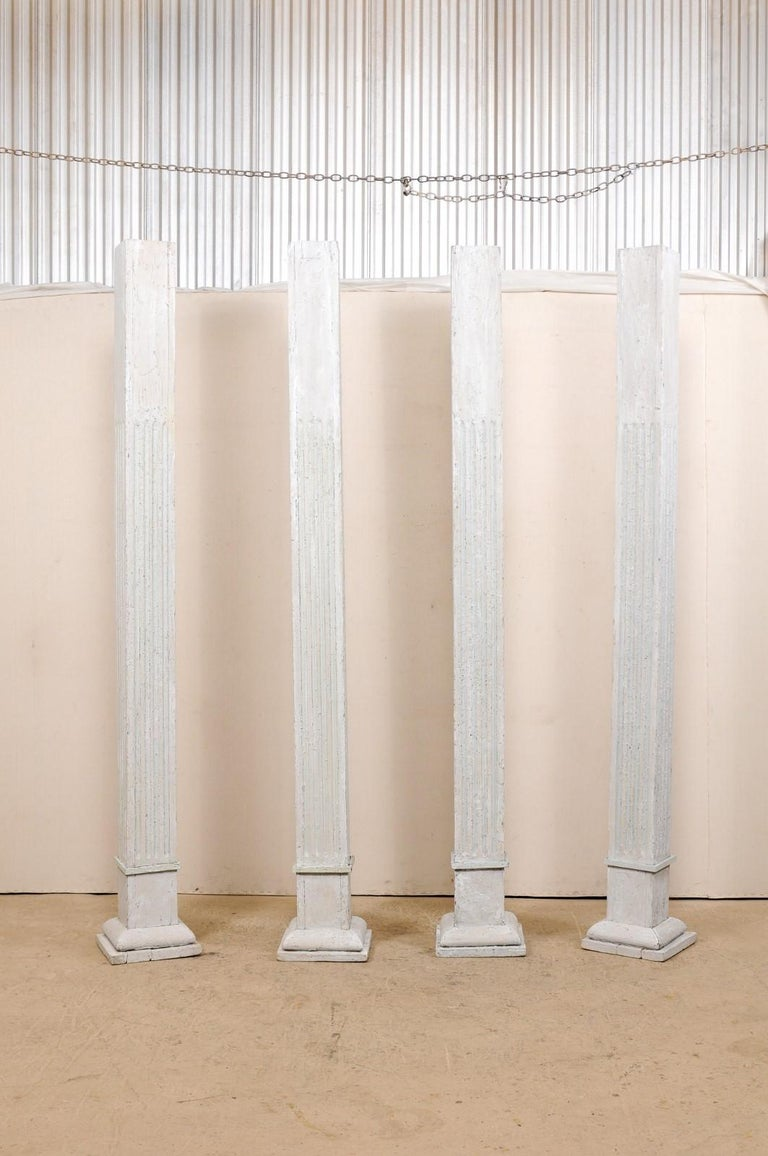 Set of Four 19th Century American Painted Columns For Sale 6