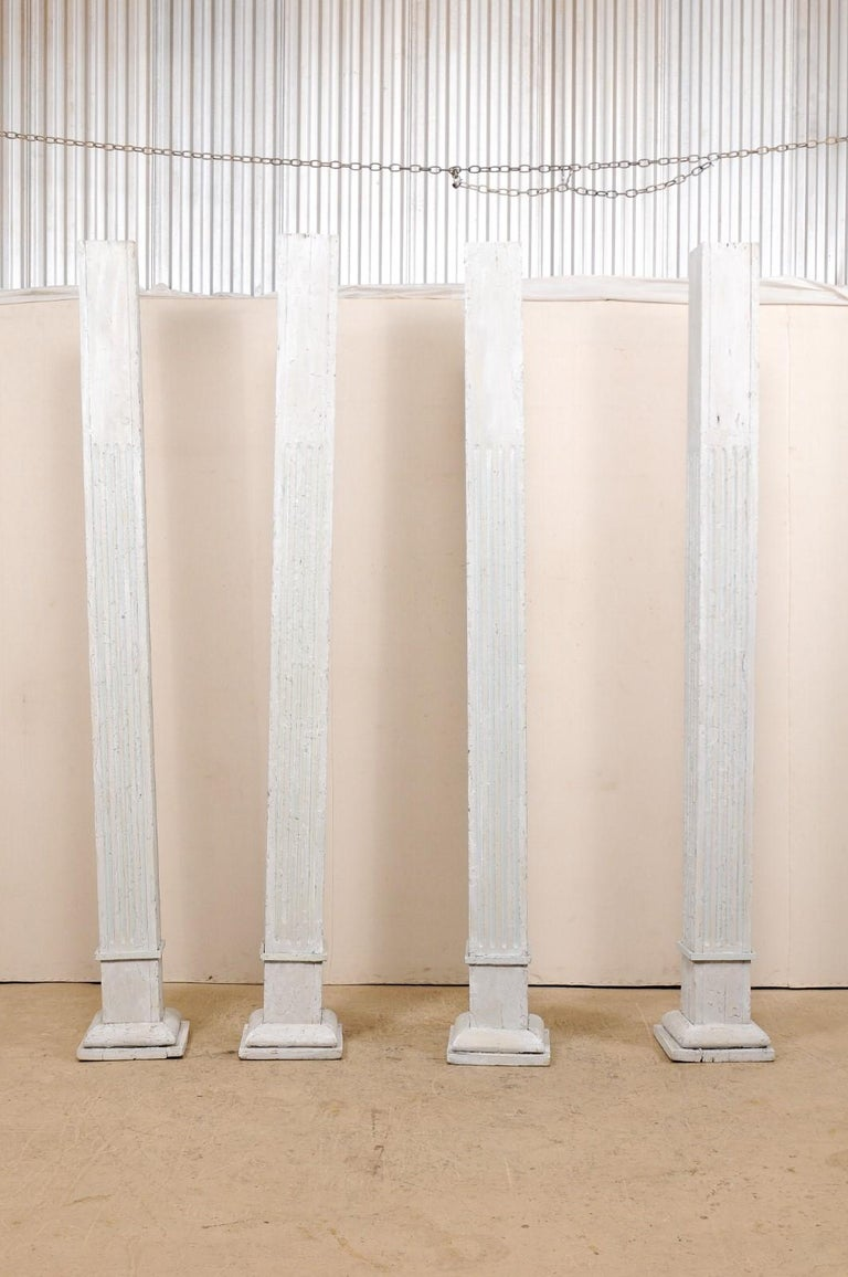 Set of Four 19th Century American Painted Columns In Good Condition For Sale In Atlanta, GA