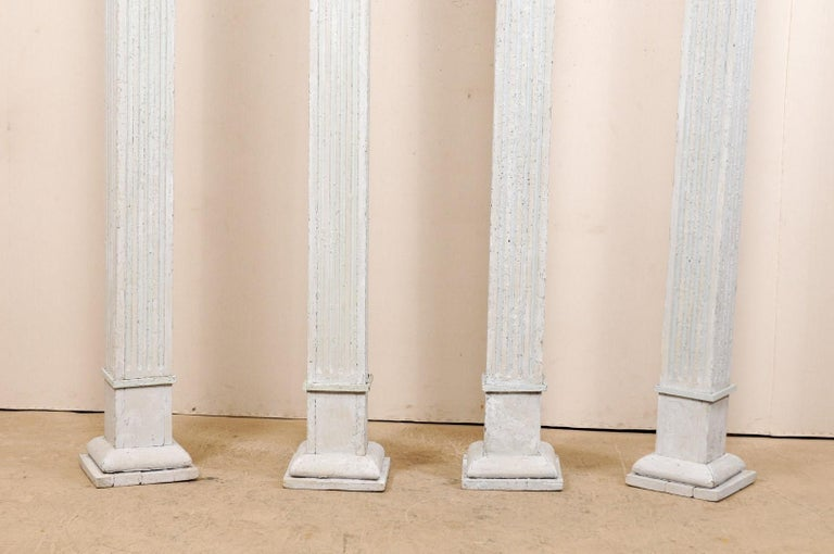 Set of Four 19th Century American Painted Columns For Sale 1