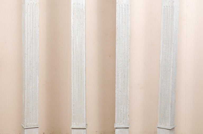 Set of Four 19th Century American Painted Columns For Sale 2
