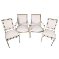 Set of Four 19th Century Directoire Chairs
