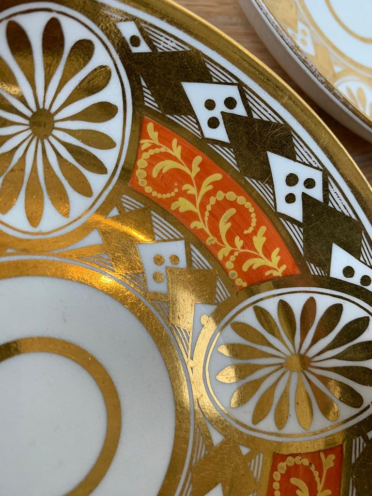 Set of Four 19th Century English Staffordshire Davenport Plates, Anchor Mark For Sale 5