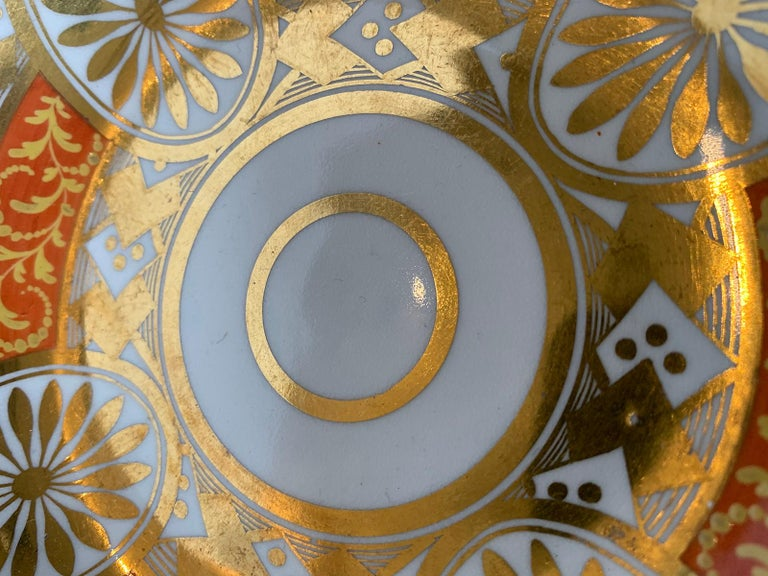 Set of Four 19th Century English Staffordshire Davenport Plates, Anchor Mark For Sale 6